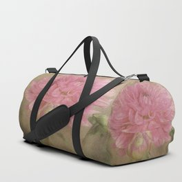 Soft Graceful Pink Painted Dahlia Duffle Bag