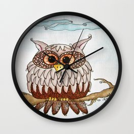 Earth Day Owl Wall Clock