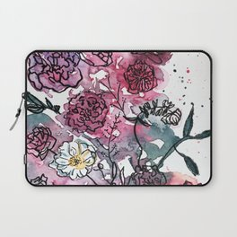 Flower Illustration Laptop Sleeve