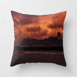 Queen Elizabeth Throw Pillow