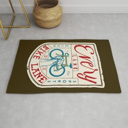 Every Lane Is a Bike Lane Rug