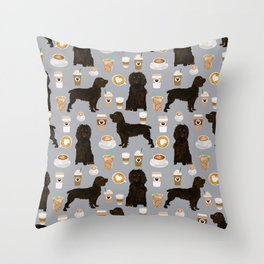 Boykin Spaniel coffee lover foodie dog person gifts for the dog person in your life Throw Pillow