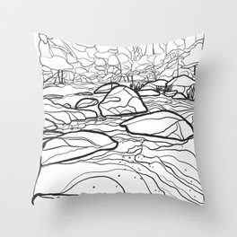 Eno River Sketch 2 Throw Pillow
