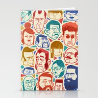 faces Stationery Cards featuring Faces by Lawerta