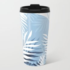 Tropical bliss - chambray blue Metal Travel Mug