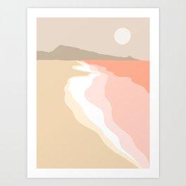 Minimal Seascape 2 - Coastal Art Art Print