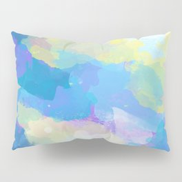 Colorful Abstract - blue, pattern, clouds, sky Pillow Sham