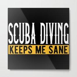 Scuba Diving Lovers Gift Idea Design Motif Metal Print