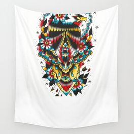Eagle and eyes Wall Tapestry