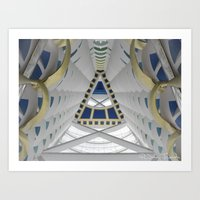 Inside the Burj Al Arab Art Print