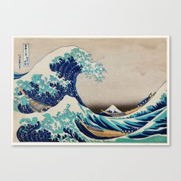 Massive Waves Japanese Art Canvas Print