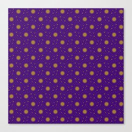 Astrological Purple Stars and Sun Canvas Print