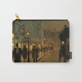 Classical Masterpiece 'Glasgow, Twilight' by John Atkinson Grimshaw Carry-All Pouch