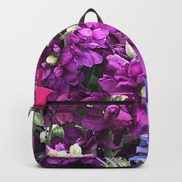 Wild Unruly Flower Garden In Vibrantly Rogue Colors Backpack