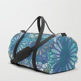 Metallic Daisies Duffle Bag