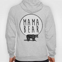 Mama Bear, Bear and Circle Moon Graphic Hoody