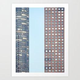 Chicago, Blue Sky Windows Art Print
