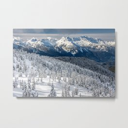 Squamish Mountains in Winter Metal Print