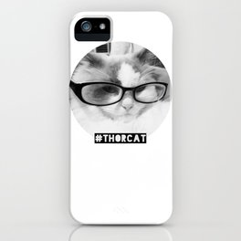 Hipster Thor Cat iPhone Case