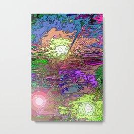 Technicolor Puddles Metal Print