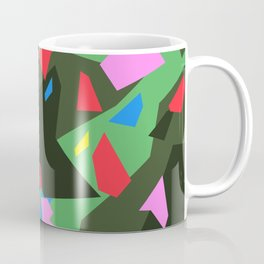 Green\Red\Blue\Black\Grey\Pink Geometric camo Coffee Mug