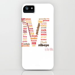 M is for Meat iPhone Case