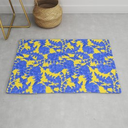 traditional flower ornament Rug