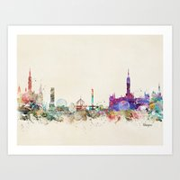 scotland Art Prints featuring glasgow scotland by bri.buckley