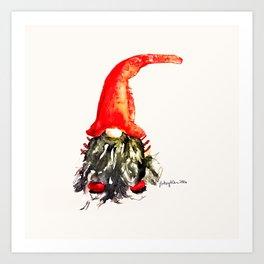 Christmas Swedish Gnome Art Print