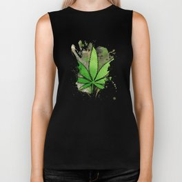 Weed Leaf Biker Tank