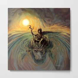"Larman Clamor - ""Alligator Heart"" Metal Print"