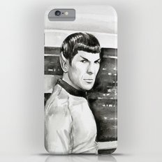 Spock Leonard Nimoy Portrait Sci-fi Geek Painting iPhone 6s Plus Slim Case