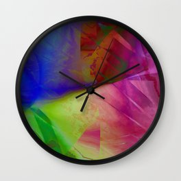 Multicolored abstract 2016 / 019 Wall Clock