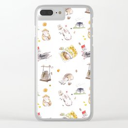 Lazy Hamster Clear iPhone Case