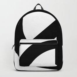 Black on White CND Peace Symbol Backpack