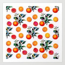 Orange blossom - Grapefruit blossom Grove Art Print Fruit Decor No. 1 Art Print
