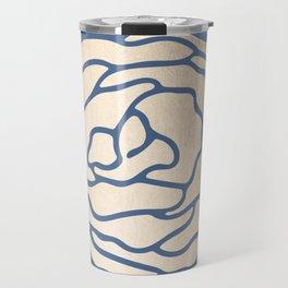 Rose White Gold Sands on Aegean Blue Travel Mug