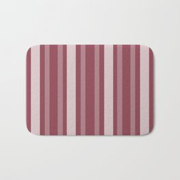 Dark Rose Victorian Lady Stripe Bath Mat