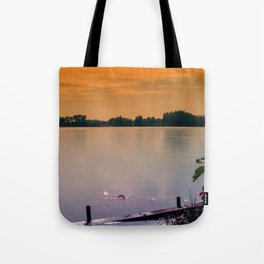 Evening mood at the lake Tote Bag