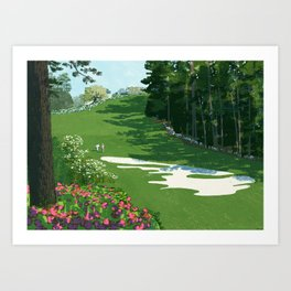 2013 Masters the 10th hole at the Augusta National Golf Club Art Print