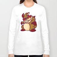 rocket raccoon Long Sleeve T-shirts featuring Rabid Raccoon by Artistic Dyslexia