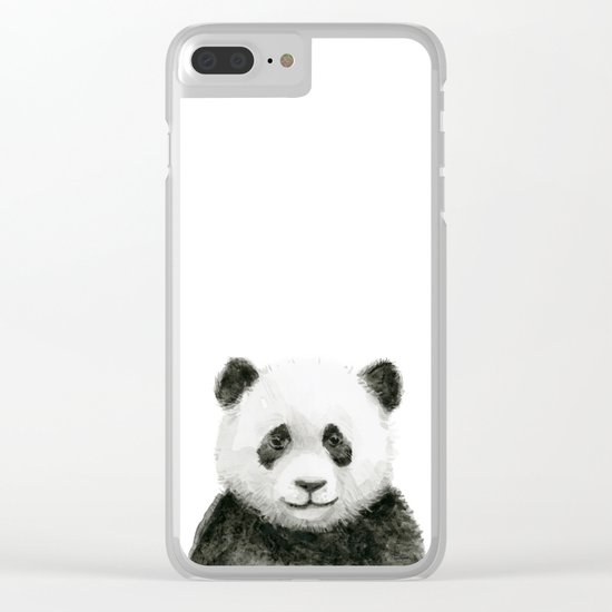 Baby Panda Whimsical Animal Watercolor Cute Baby Animals Clear iPhone Case