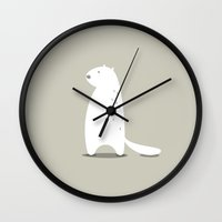 beaver Wall Clocks featuring BEAVER by Seokhyun Shim