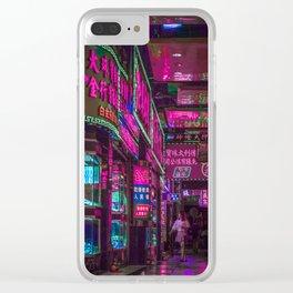 Macau Lights Clear iPhone Case
