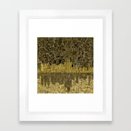 dallas city skyline Framed Art Print