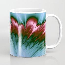 Pink and Aqua Feather Flurry Coffee Mug