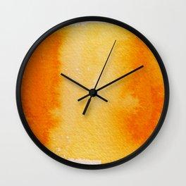 Horizontal Sunrise Haze Wall Clock