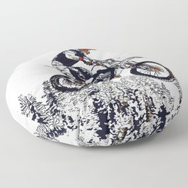 """High Flyer"" Motocross Racer Floor Pillow"