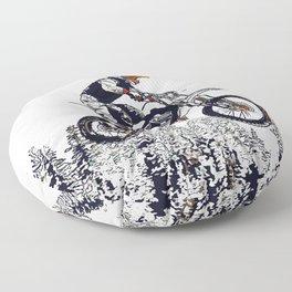"""High Flyer"" Motocross Racer Floor Pillow"