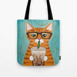 Iced Coffee Cat Tote Bag